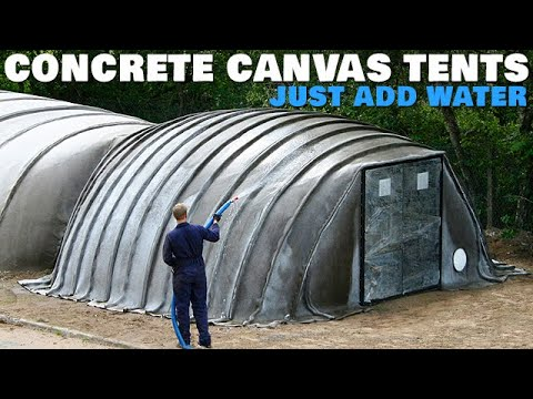 Premade Concrete Canvas Tents - Just Add Water