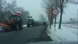 protest rolników w szczecinku 25.01.2013