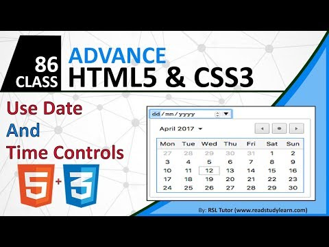 Use HTML Date And Time Contoller - HTML5 DatePicker 2019