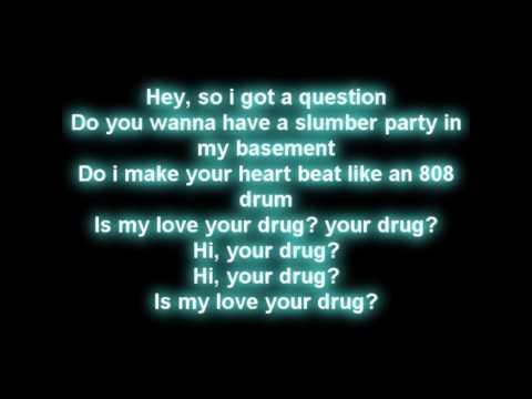 Ke$ha - Your Love Is My Drug (lyrics on screen) [HD]