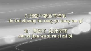 需要人陪 xu yao ren pei - 王力宏 wang Leehom (Instrumental/Karaoke with pinyin lyrics)