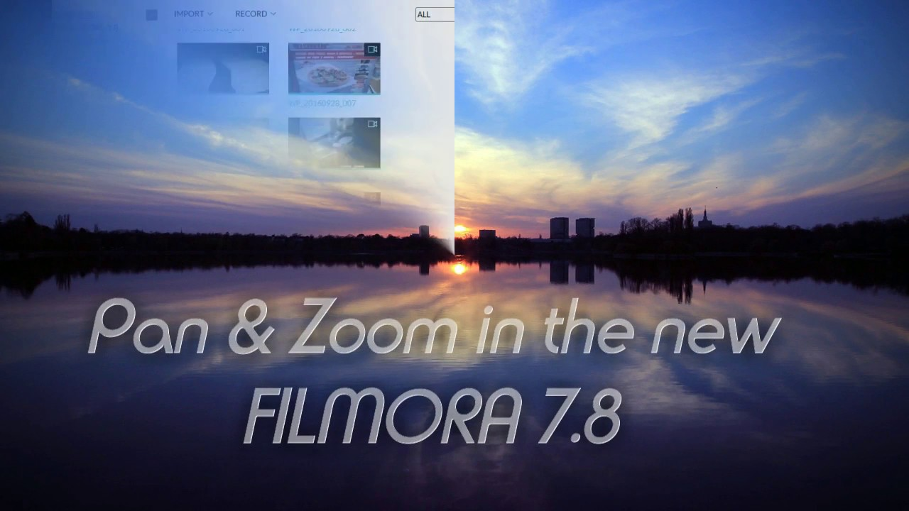 Filmora 7 8 how to pan and zoom - quick, easy tutorial
