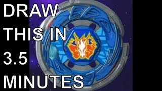 HOW TO DRAW A BEYBLADE  - PEGASUS
