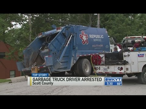 Driver arrested after crashing garbage truck north of Georgetown
