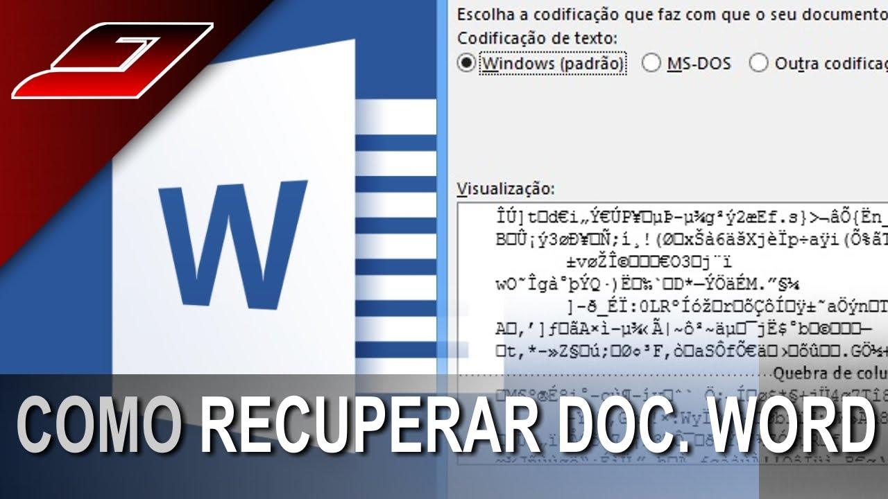 Como recuperar arquivo do word corrompido ou apagado (DOC