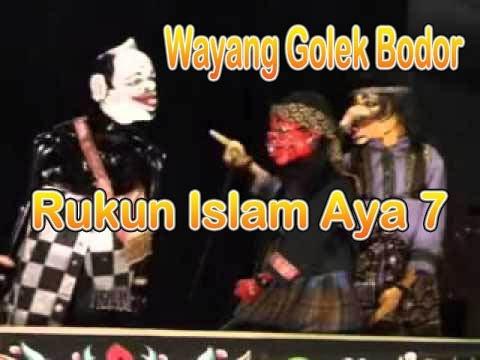 Wayang Golek Bobodoran Cepot : Rukun Islam aya 7