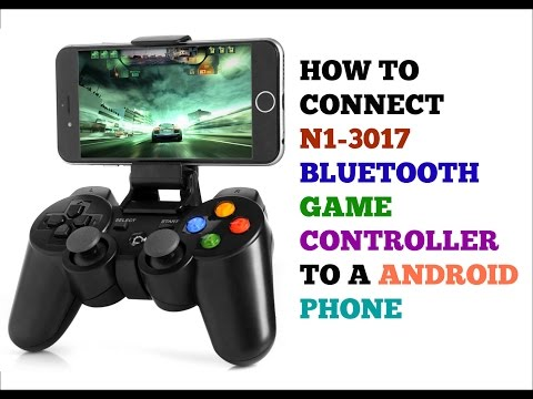 ( HOW TO CONNECT ) N1-3017 BLUETOOTH GAME CONTROLLER TO A ANDROID PHONE