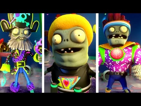 Plants vs. Zombies: Garden Warfare 2 - All PARTY Zombies! (Pirate, imp, Brainz)