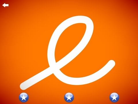 The letter e - Learn the Alphabet and Cursive Writing!