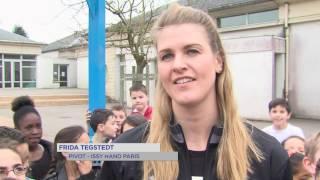 Handball : les joueuses assurent la promotion de la rencontre du 25 mars