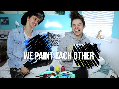 Couple Tries Painting Portraits Of Each Other | Gabriel And Kayce