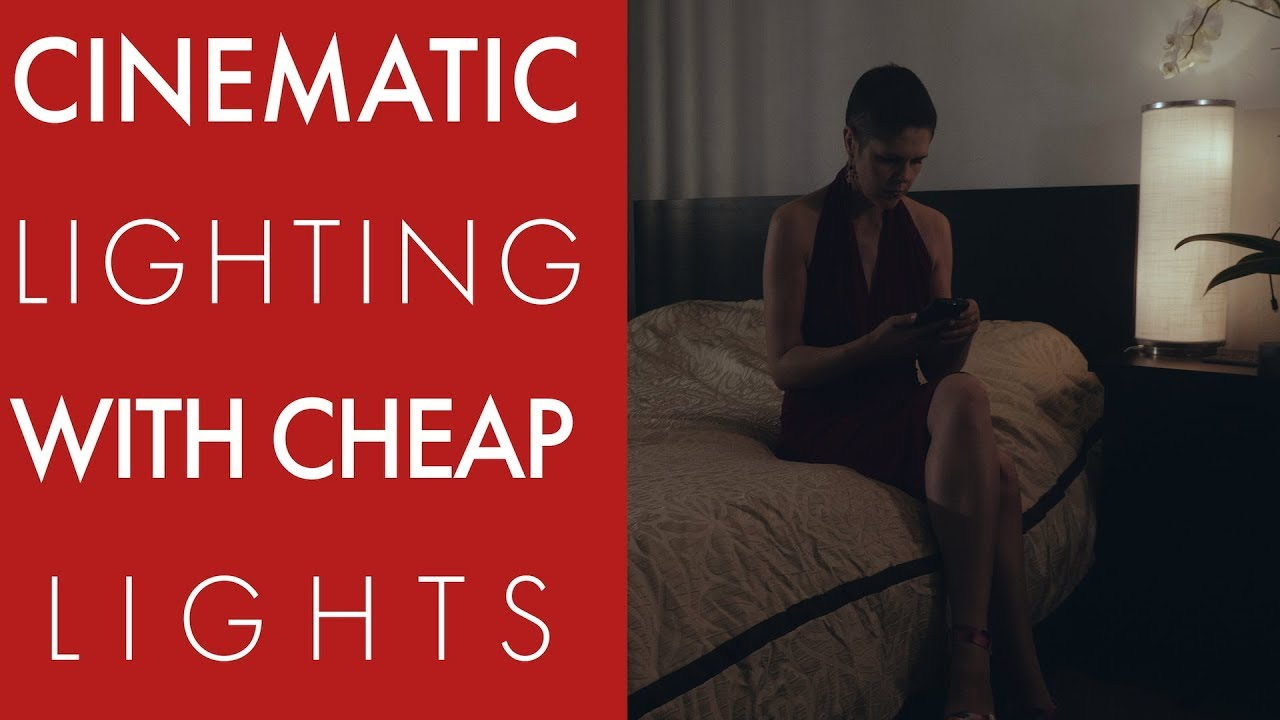How to light a cinematic night time bedroom scene with cheap lights
