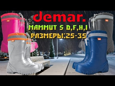 Детские резиновые сапоги Demar Mammut S D,F,H I
