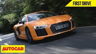 Audi R8 V10 Plus | First Drive | Autocar India(Is the new supercar a step up from the impressive last-gen R8 V10 Plus? Autocar India is your one stop source for test drive reviews & comparison test of every ..., 2016-06-13T06:03:29.000Z)