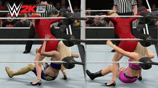 WWE 2K15 PC Mod - Lana performing the Stinkface on every Diva