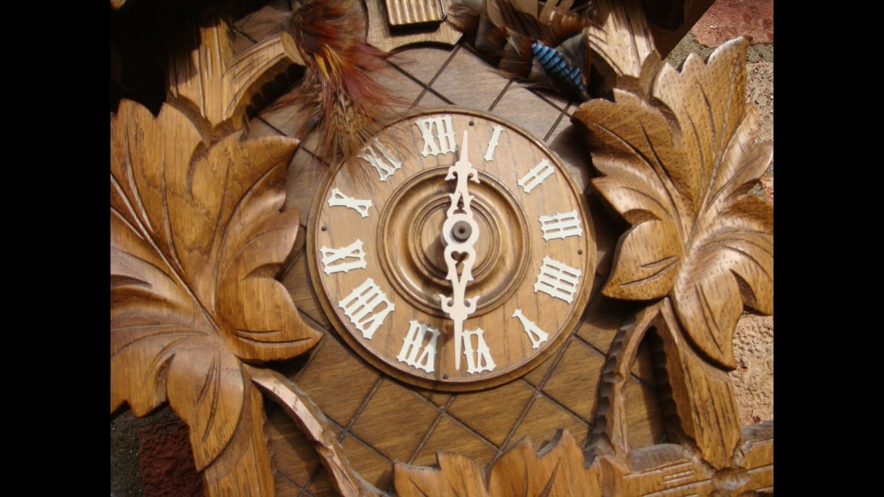 German cuckoo wall clock double weight driven movement pendulum german cuckoo wall clock double weight driven movement pendulum see video amipublicfo Images