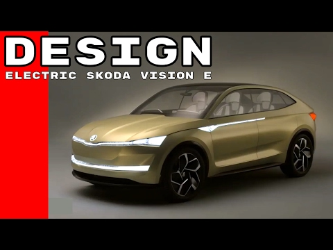 All Electric SKODA VISION E Concept Car Design