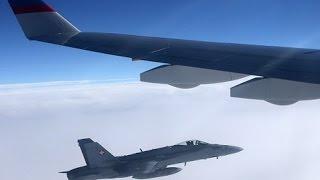 في إستفزاز خطير : مقاتلات سويسرية تطارد طائرة بوتين الرئاسية وتوشك على الاصطدام بها