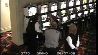 Surveillance video: David Allan Coe cuffed at casino