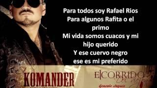Letra Rafael Rios - El Komander