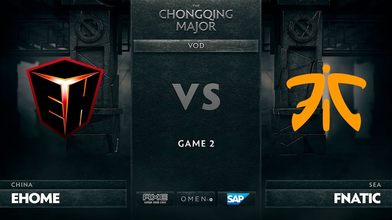 [RU] EHOME vs Fnatic, Game 2, The Chongqing Major UB Round 1