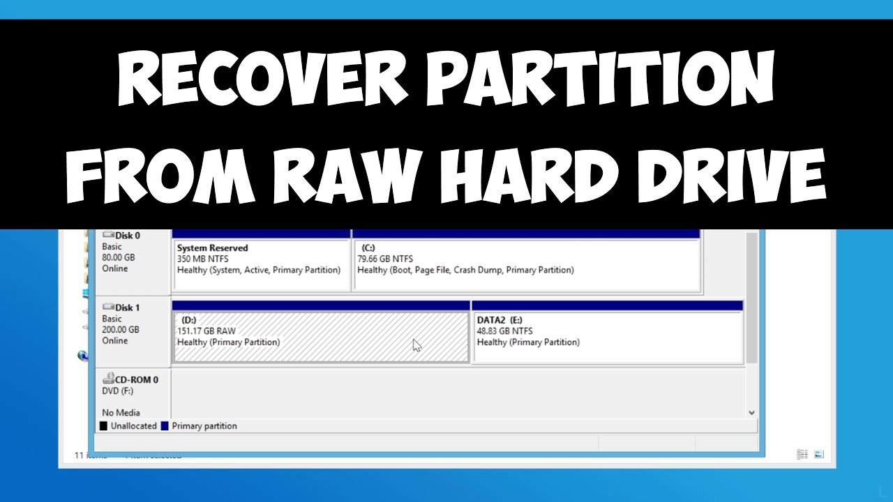 Recover Partition From Raw Hard Drive Youtube