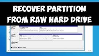 Recover partition from RAW hard drive