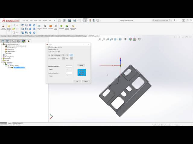 SolidCAM 2016 - Matrix Transform on a Specified Vector or Coordinate System