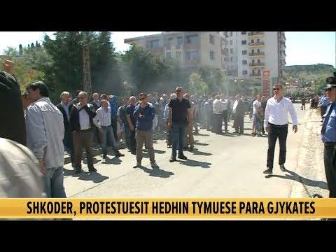 Tymuese dhe fishekzjarre para Gjykatës së Shkodër, protestuesit: Lironi vëllezërit tanë