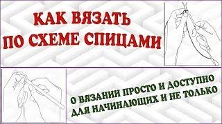 Урок вязания схемы. Как вязать по схеме спицами. Как читать схему вязания. (Knitting by scheme)