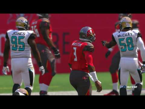 Madden NFL 17 PS4 ALL ROOKIES START Jacksonville Jaguars vs Tampa Bay Buccaneers