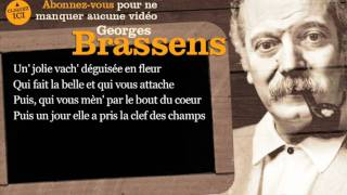 Georges Brassens - Une jolie fleur - Paroles ( Karaoké )