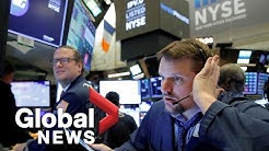 NYSE big board: Stocks recover following historic plunge amid coronavirus fears