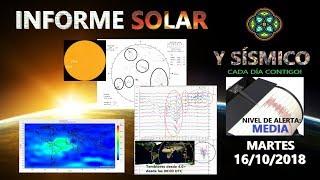 16/10 INFORME SOLAR Y SÍSMICO - ESPERANDO LA TORMENTA GEOMAGNETICA