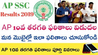 Ap ssc Results 2019 || Ap 10th Results 2019 || Ap 10th class Results 2019 || How to check in Mobile