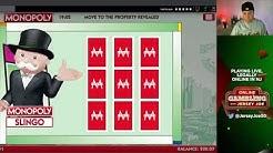 Monopoly Slingo slots LIVE [Online Gambling with Jersey Joe # 62]