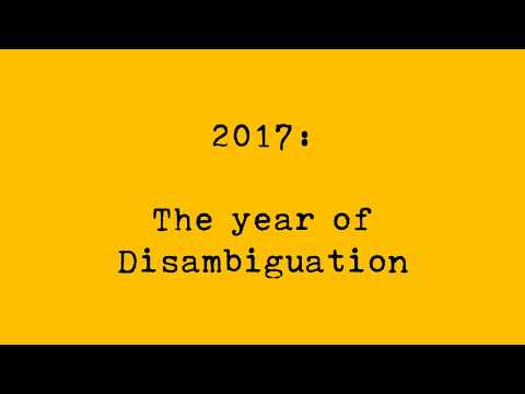 Disambiguation - An Introduction