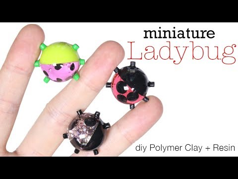 How to DIY Ladybug Polymer Clay/Resin Tutorial