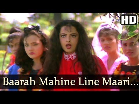 bara-maheene-line-mari---rekha---jeetendra---souten-ki-beti---old-hindi-songs---kishore-kumar