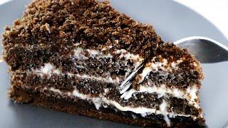 Простой, Вкусный, Бюджетный Торт. Знаменитый шоколадный бисквит на кипятке