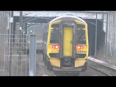 Scotrail class 158 868 departs Edinbugh park for Stirling