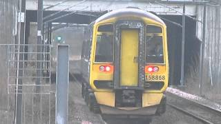 Scotrail class 158 868 departs Edinbugh park for Stirling