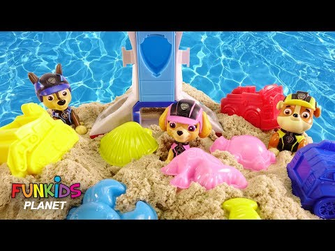 Thumbnail: Learn Colors with Paw Patrol Skye & Chase Mission Pups on the Beach Magic Sand