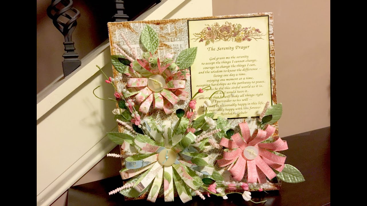 Upcycled Box to Mixed Media Floral Wall Art - YouTube