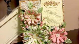 Upcycled Box to Mixed Media Floral Wall Art