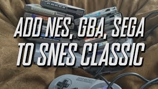 SNES Classic Hack Video #2. NES, GBA, SEGA, ATARI, MAME games with Retro_Arch. Bing Err