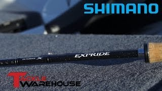 the new shimano expride casting spinning rods w robby gant