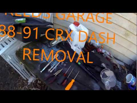 Crx Dash Removal