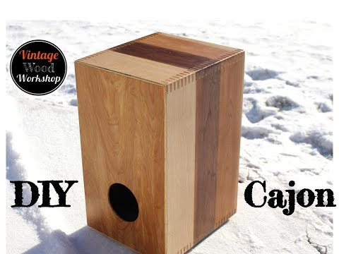 Building a Hardwood Cajon Box Drum with Adjustable Snare//DIY