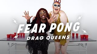 Drag Queens Play Fear Pong (La Saveona vs. Baby Guuurl) | Fear Pong | Cut